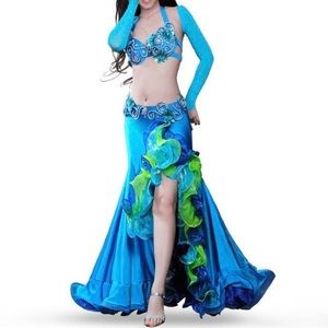 SOLD- Baby Blue Belly Dance Costume (Small) -SOLD